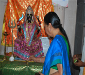 Anandiben Patel At Ambaji Temple